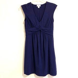 Ann Taylor Loft Navy V-neck Sleeveless  Dress